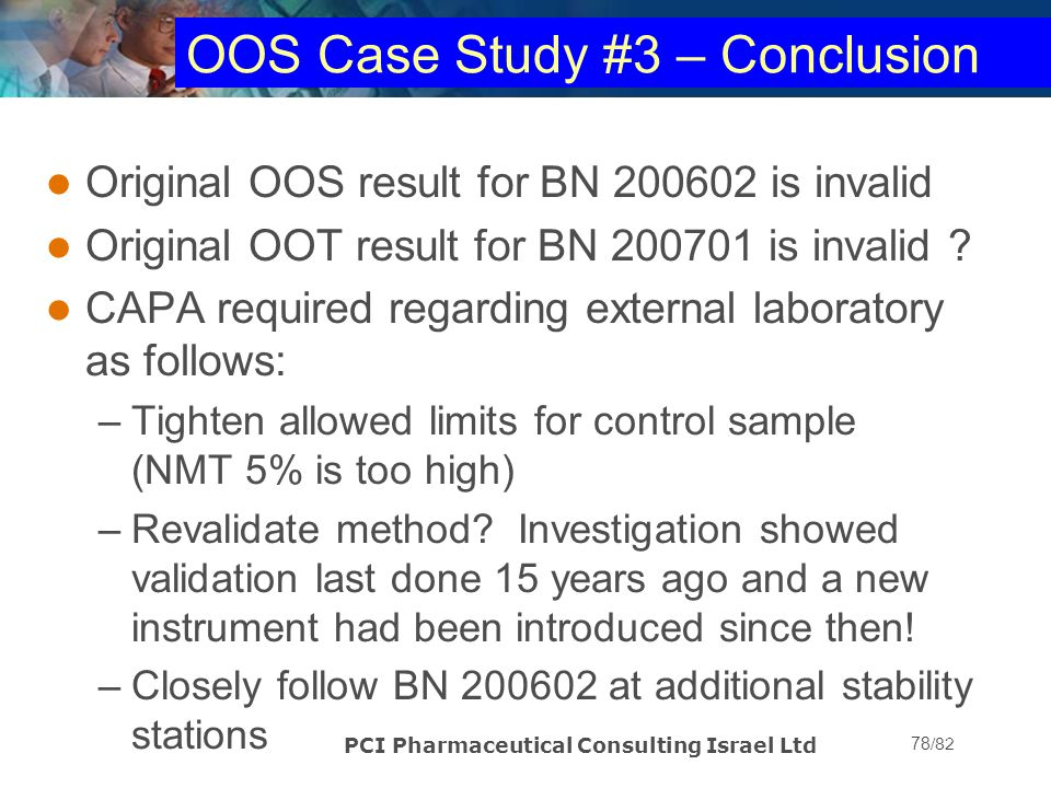 OOS Case Study #3 – Conclusion