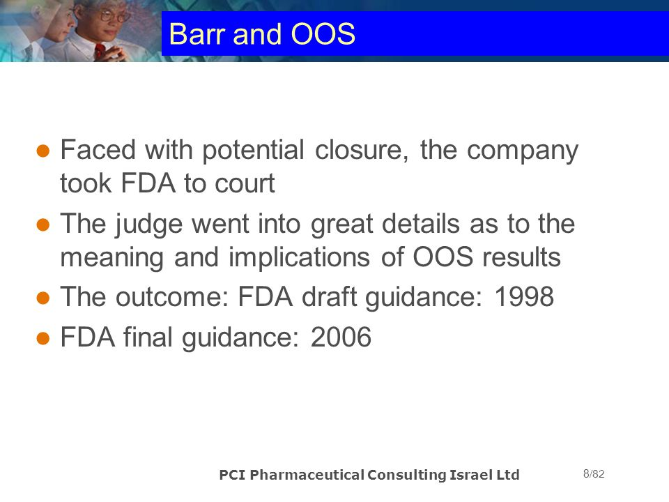 Barr and OOS Faced with potential closure, the company took FDA to court.