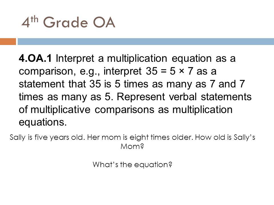 4th Grade OA