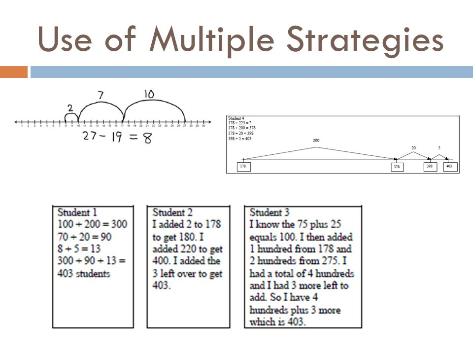 Use of Multiple Strategies