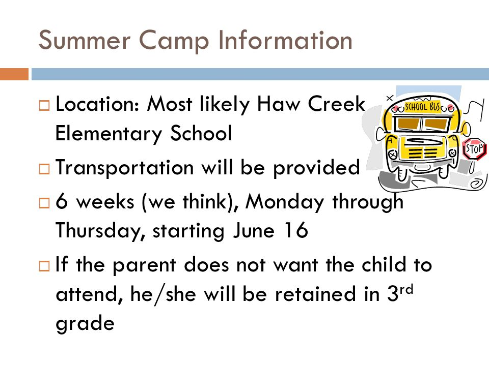 Summer Camp Information