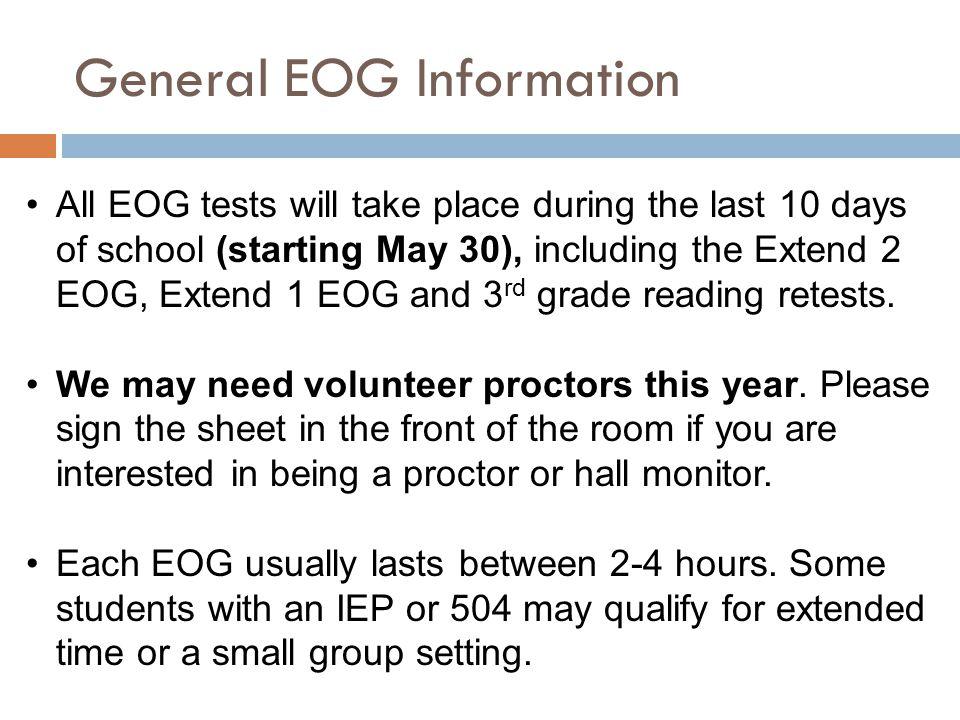 General EOG Information