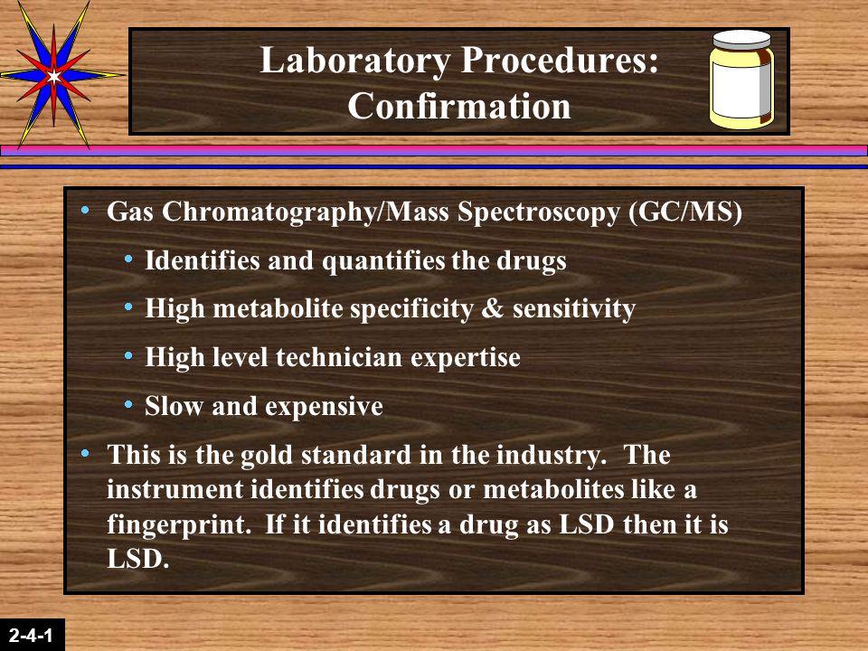 Laboratory Procedures: Confirmation