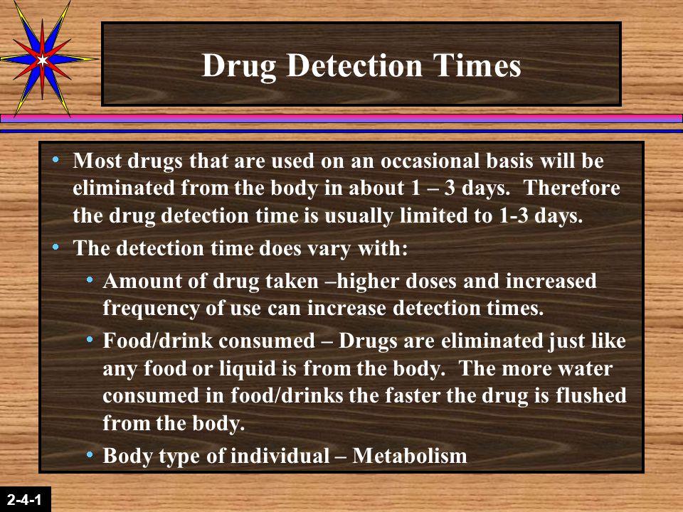 Drug Detection Times