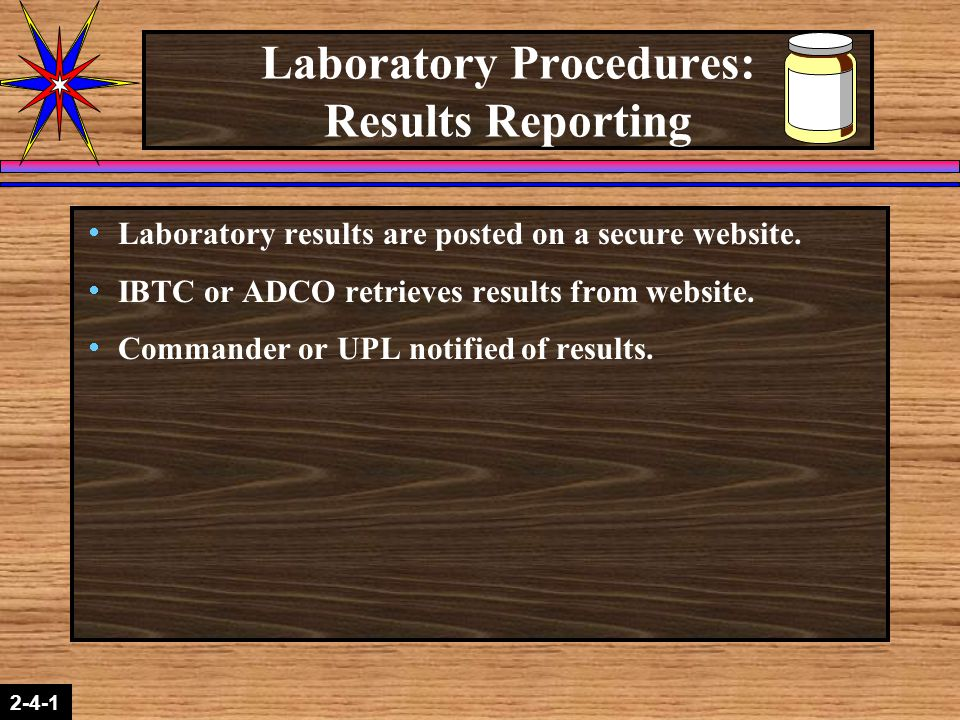 Laboratory Procedures: Results Reporting