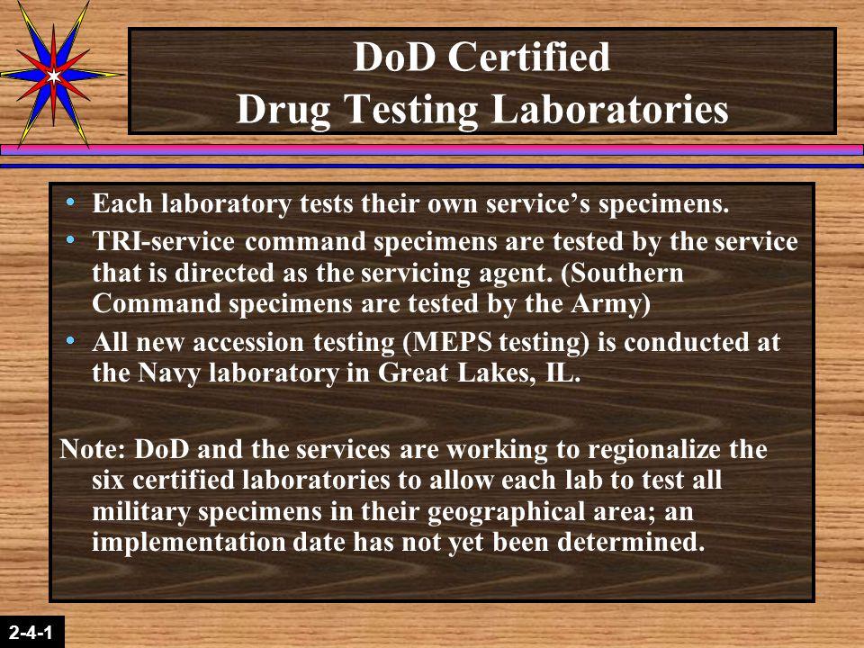 DoD Certified Drug Testing Laboratories