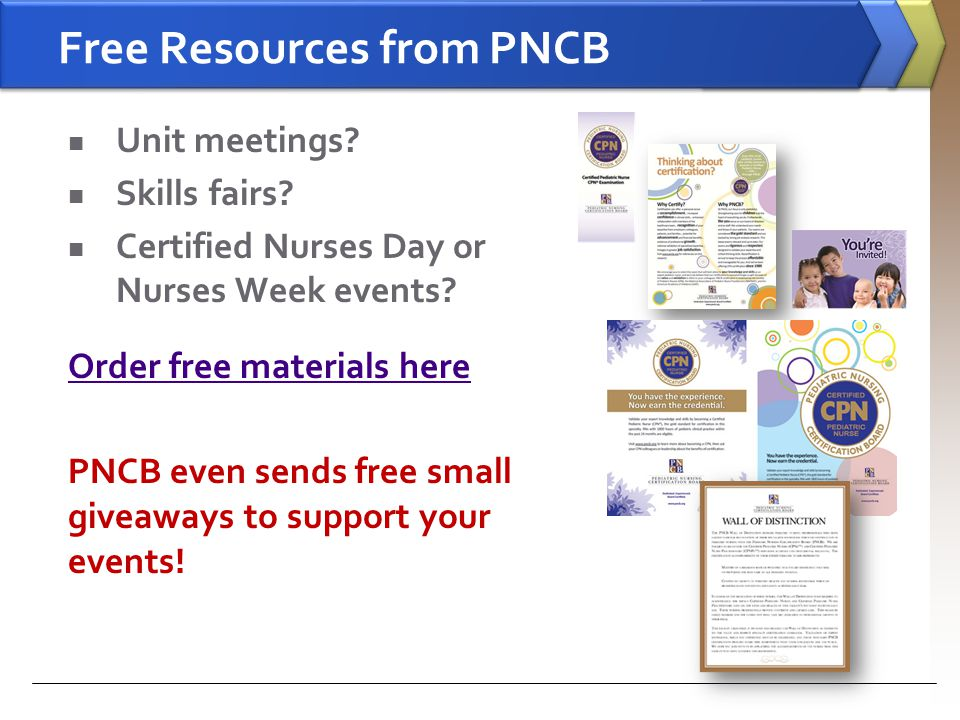 Free Resources from PNCB