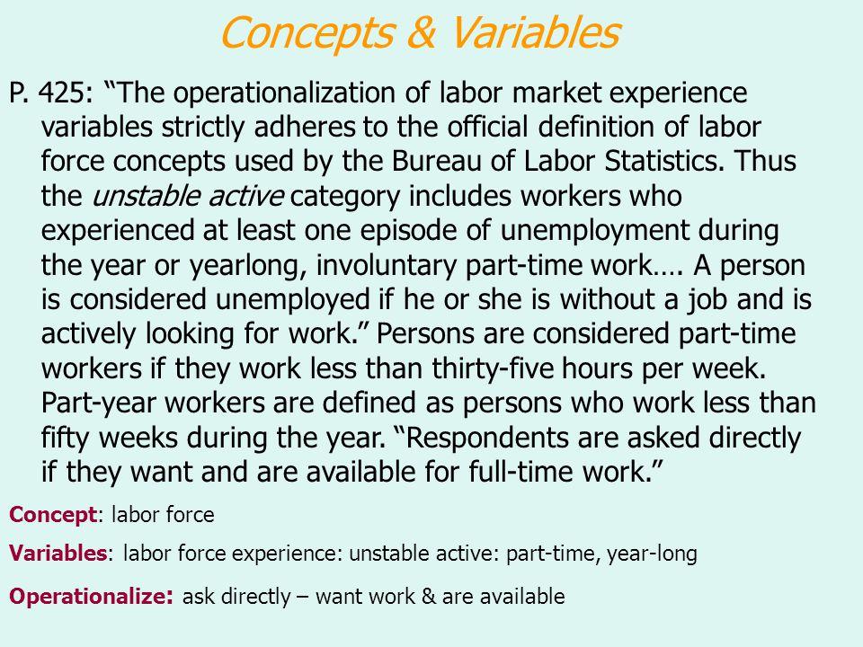 Concepts & Variables