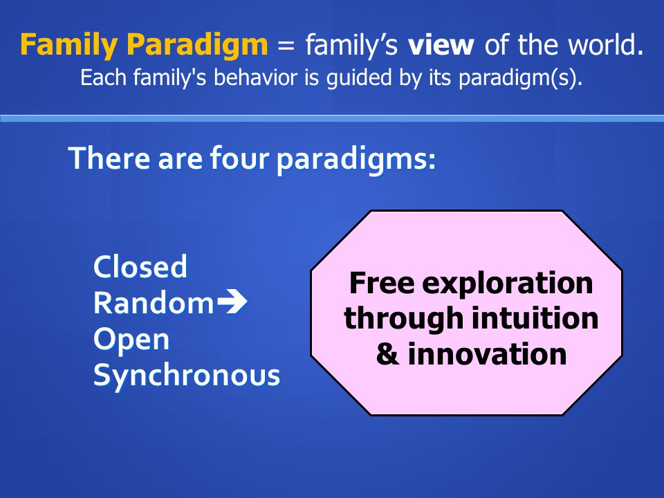 Free exploration through intuition & innovation