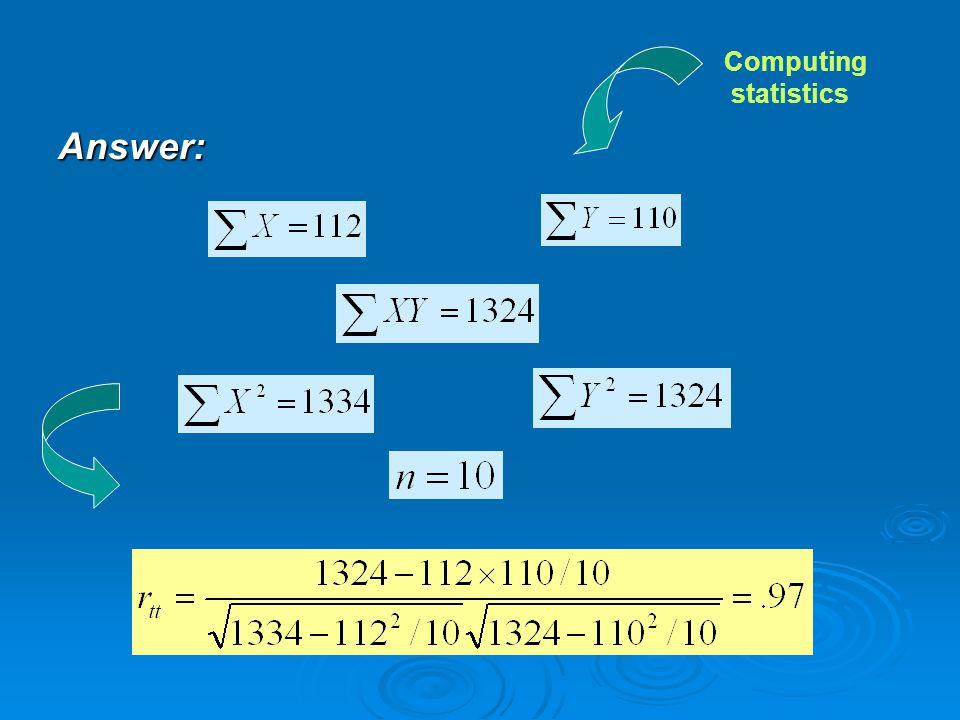 Computing statistics Answer: