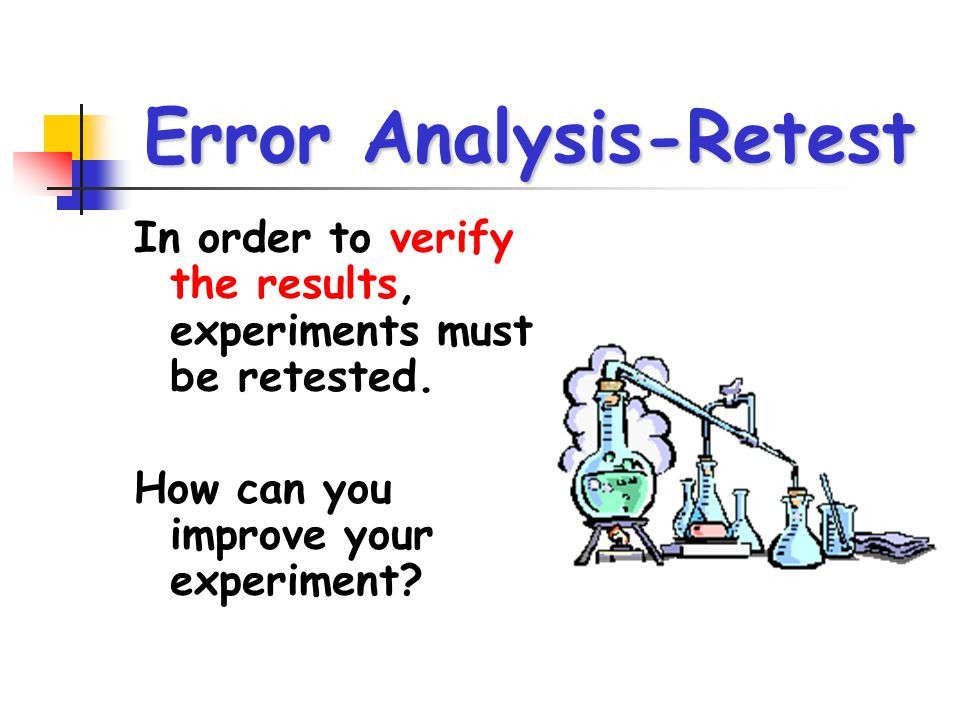 error analysis lab The open door web site : ib biology : gives advice about error analysis in biology.
