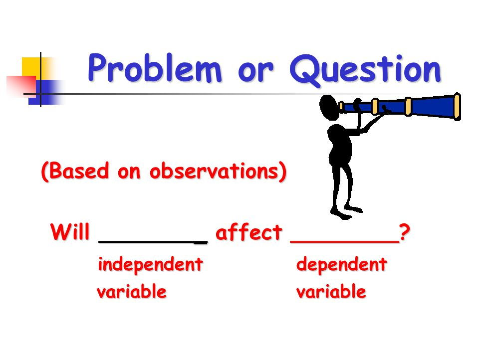 Problem or Question (Based on observations)