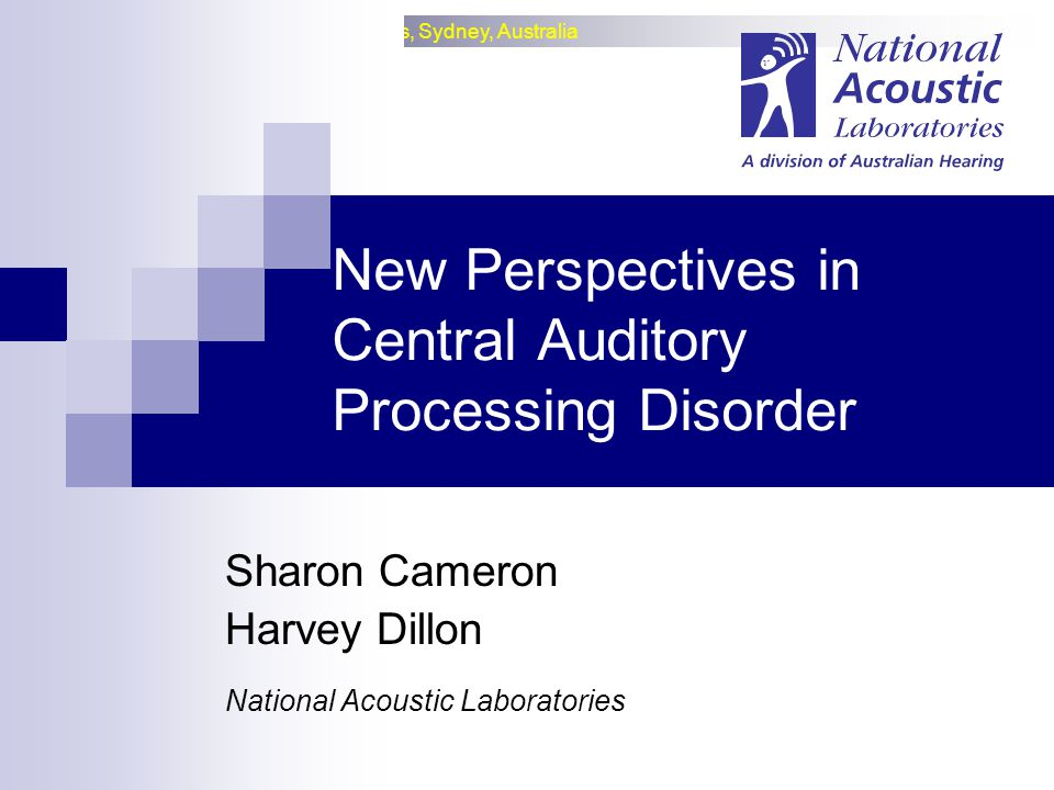 New Perspectives in Central Auditory Processing Disorder