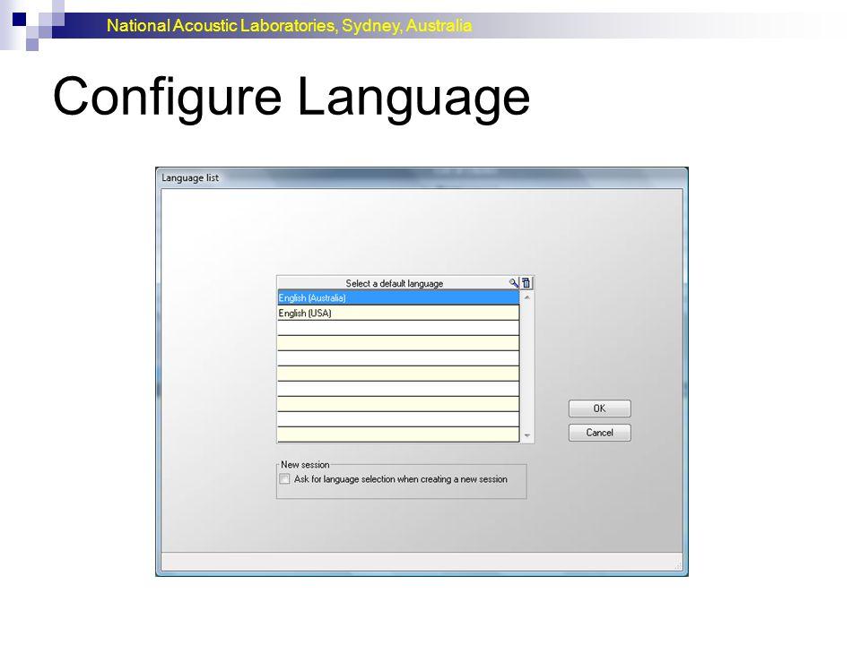 Configure Language