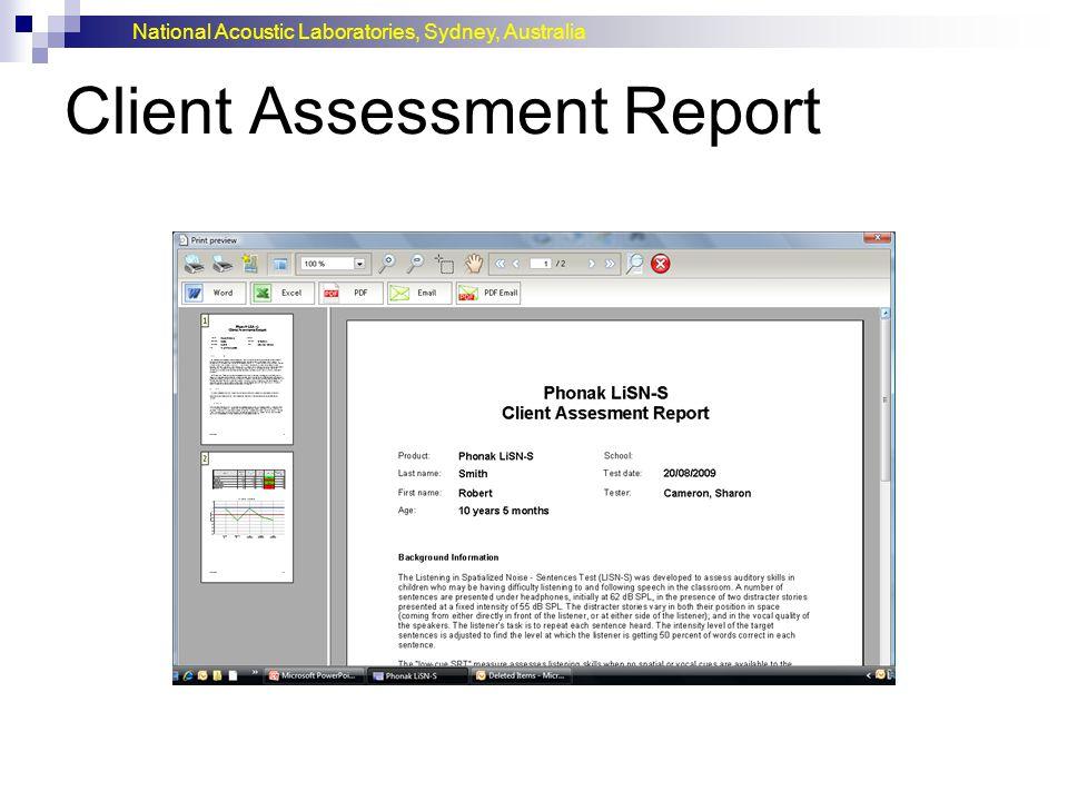 Client Assessment Report