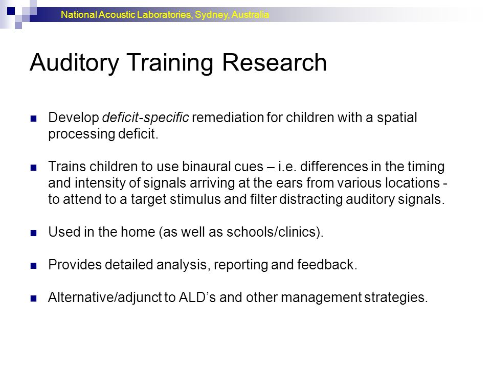 Auditory Training Research