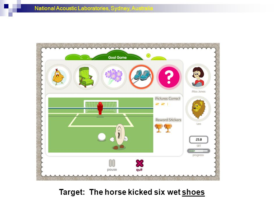 Target: The horse kicked six wet shoes