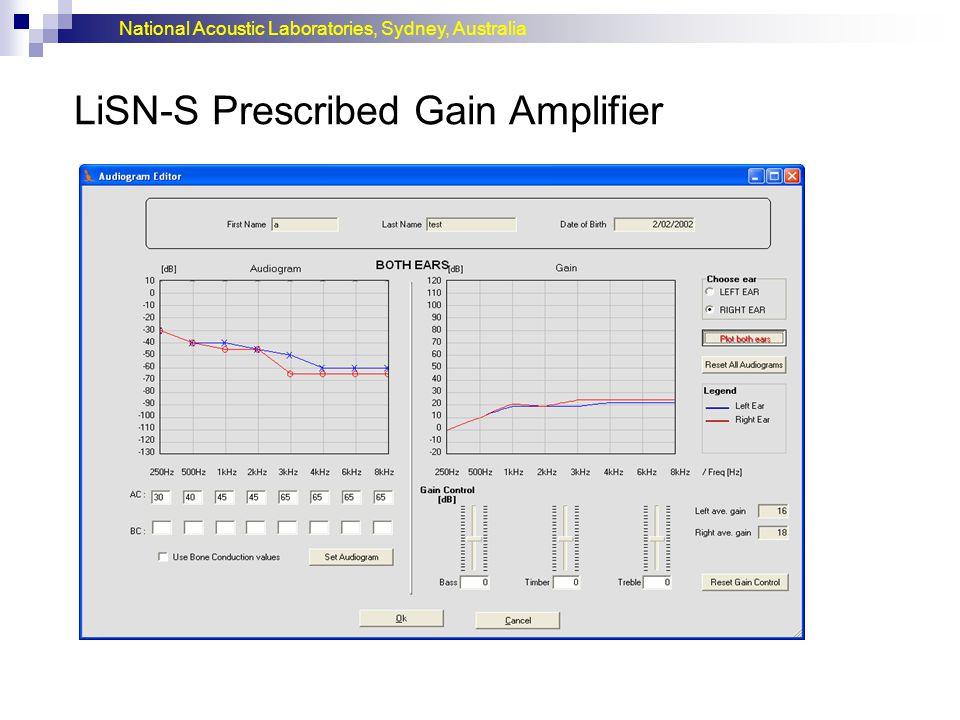 LiSN-S Prescribed Gain Amplifier