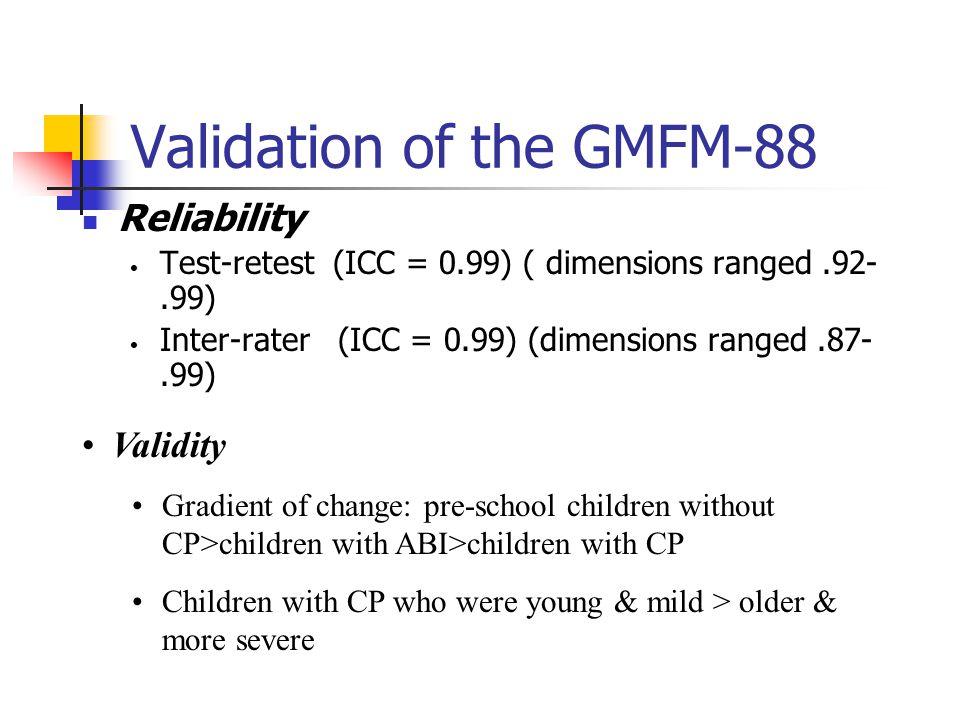 Validation of the GMFM-88
