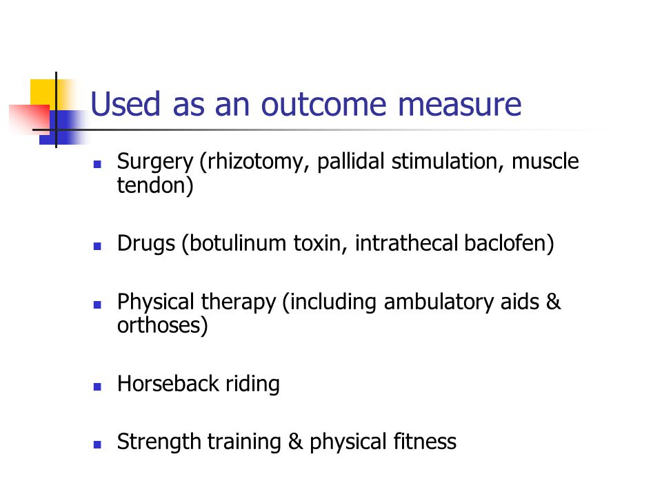 Used as an outcome measure