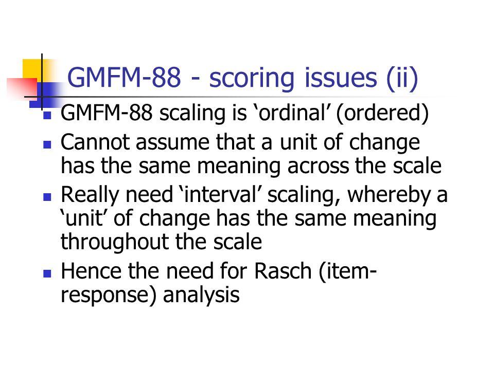 GMFM-88 - scoring issues (ii)