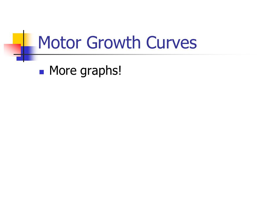 Motor Growth Curves More graphs!