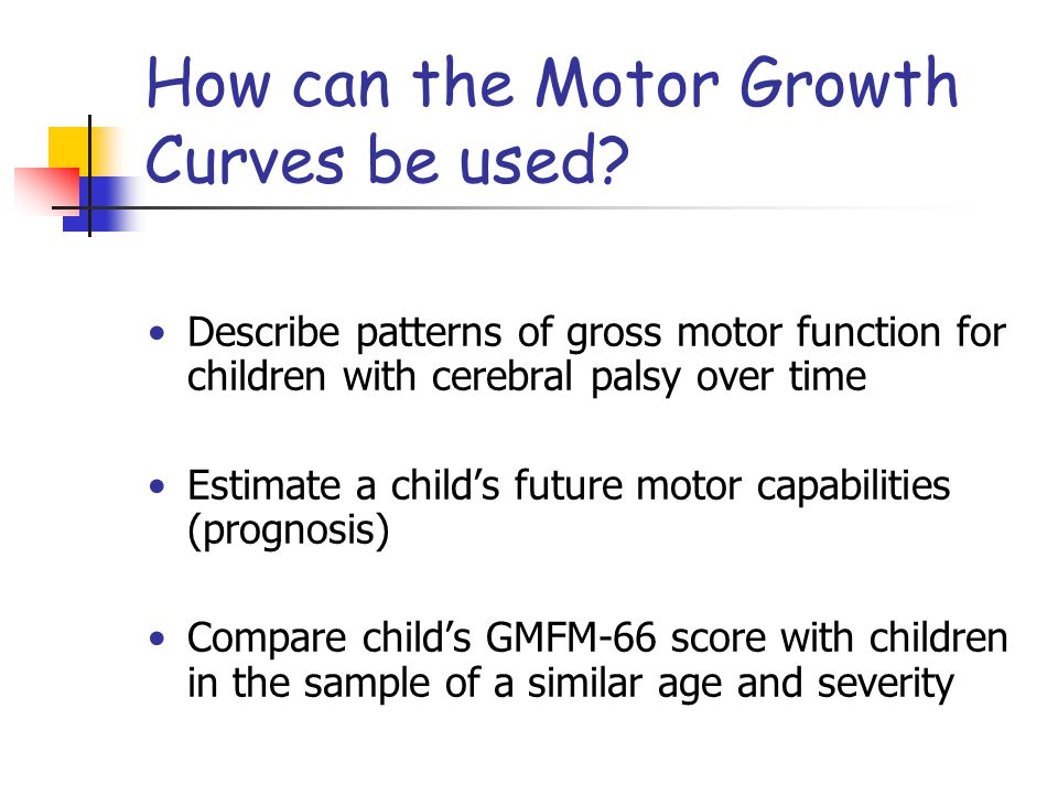 How can the Motor Growth Curves be used