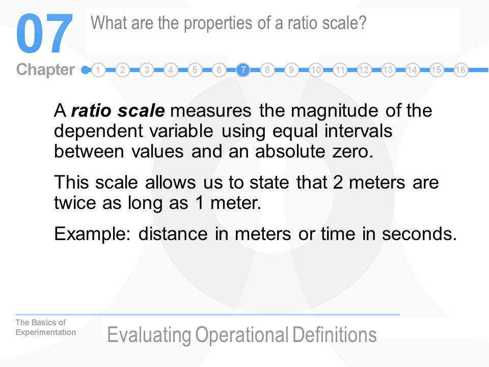 What are the properties of a ratio scale