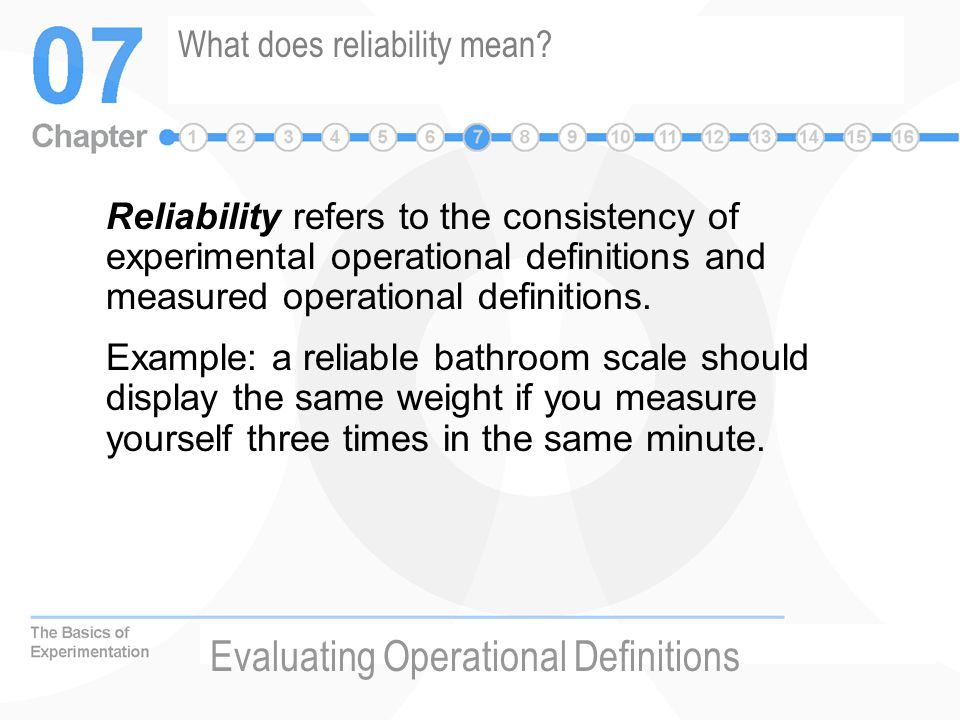 What does reliability mean