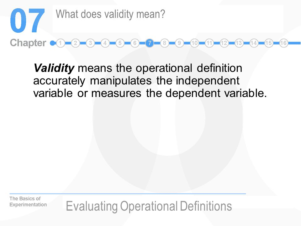 What does validity mean
