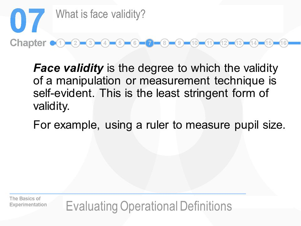 Evaluating Operational Definitions