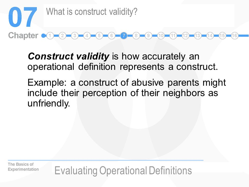 What is construct validity