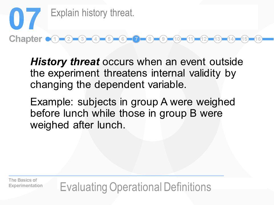 Explain history threat.