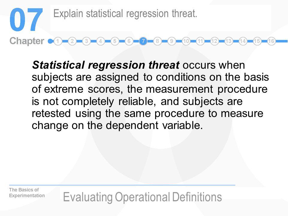 Explain statistical regression threat.