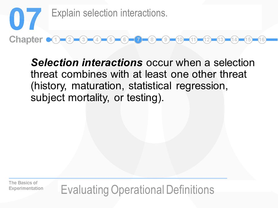 Explain selection interactions.