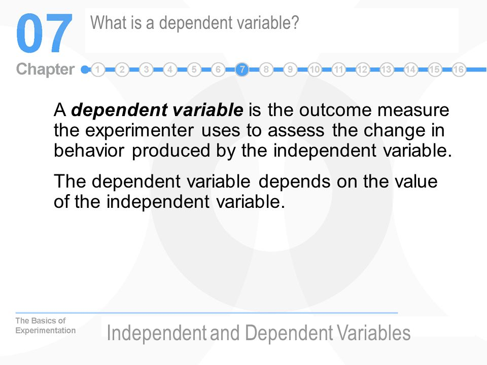What is a dependent variable