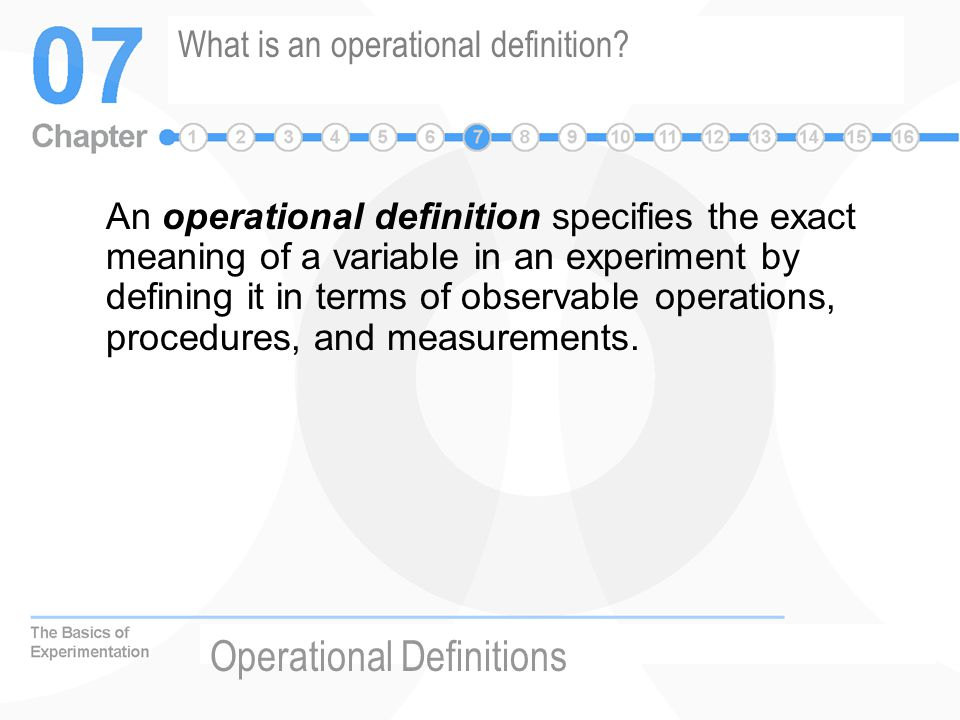 how to make operational definition of terms