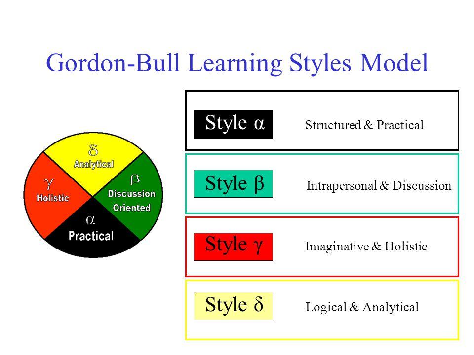 Gordon-Bull Learning Styles Model