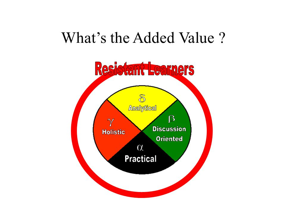 What's the Added Value Resistant Learners