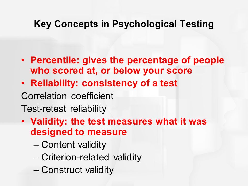 Key Concepts in Psychological Testing