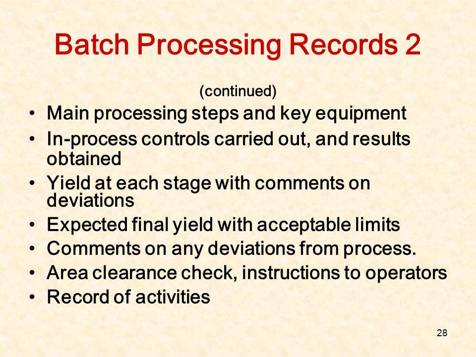 Batch Processing Records 2