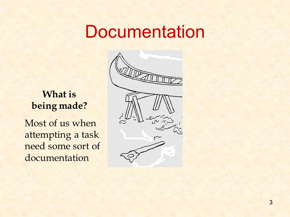 Documentation What is being made