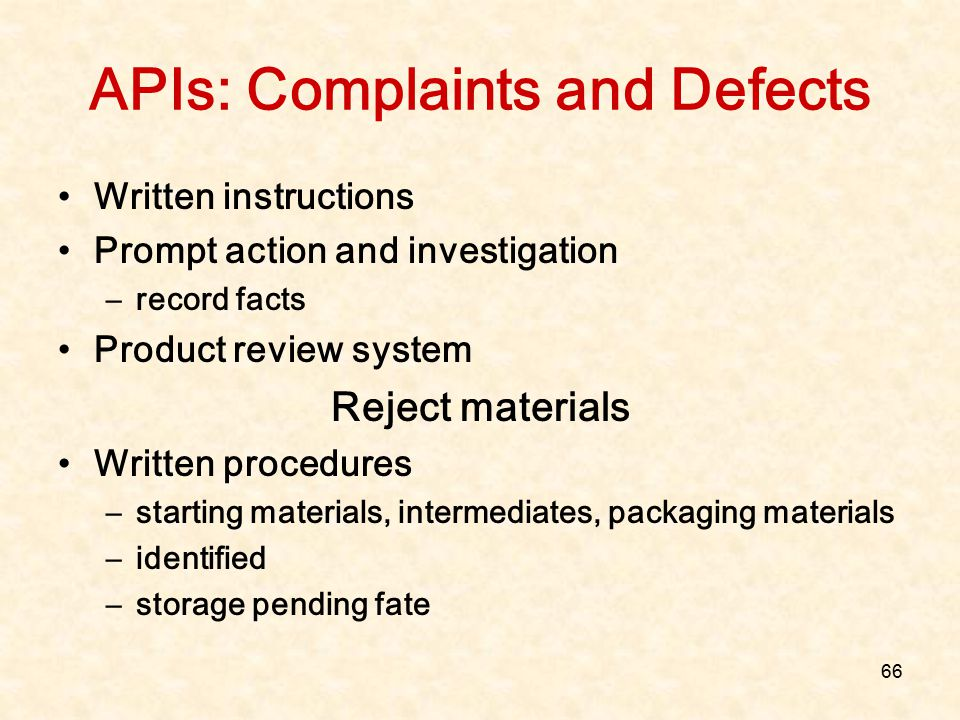 APIs: Complaints and Defects