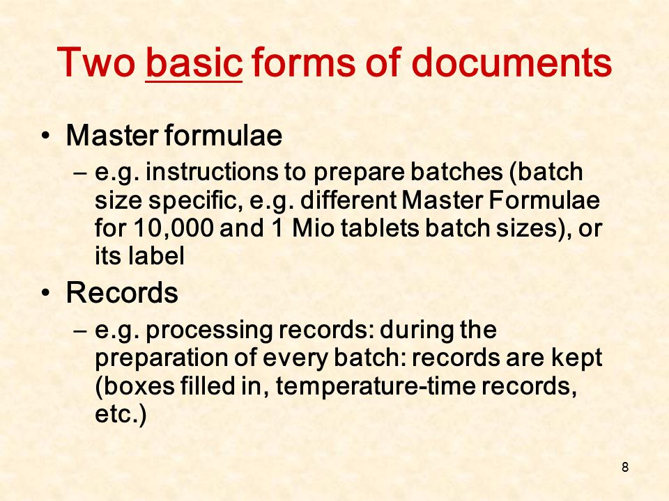 Two basic forms of documents