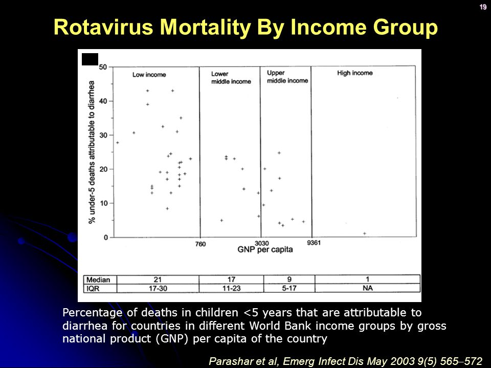 Rotavirus Mortality By Income Group