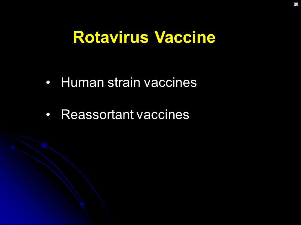 Rotavirus Vaccine Human strain vaccines Reassortant vaccines