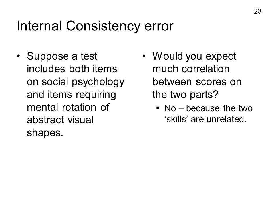 Internal Consistency error