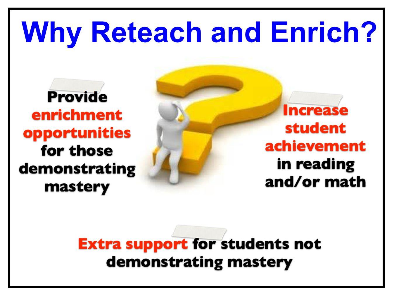 Why Reteach and Enrich