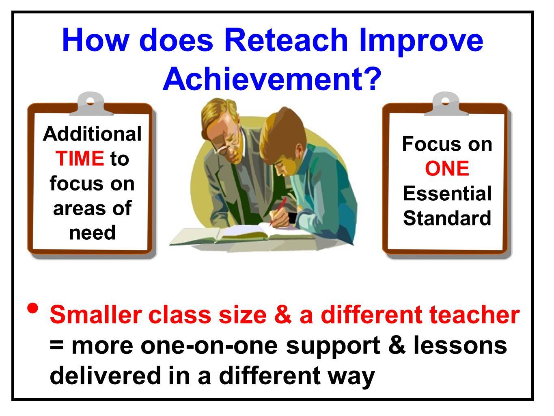 How does Reteach Improve Achievement