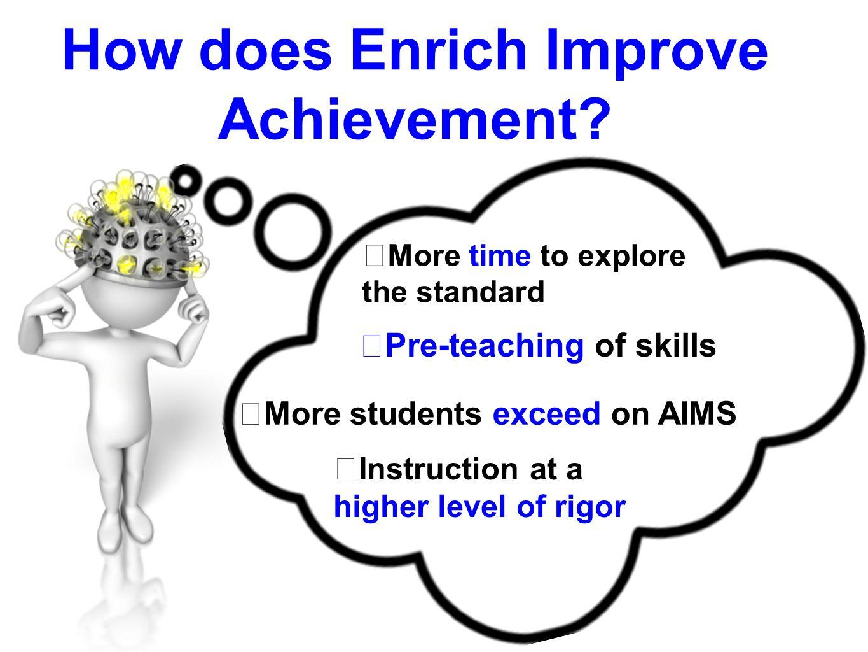 How does Enrich Improve Achievement
